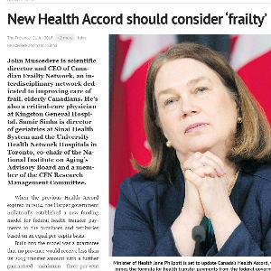 New Health Accord should consider frailty